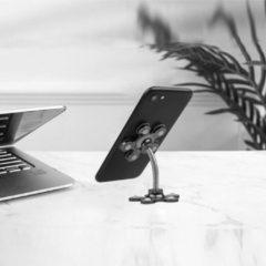 Zilveren Benson Zuignap Flexibele Telefoonhouder - Zwart - Universeel