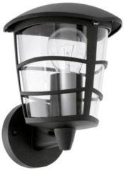 Zwarte EGLO Aloria - Buitenverlichting - Wandlamp - 1 Lichts - Zwart - Helder