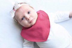 Roze Pippi babywear - slabbetje - 2-pack - effen fuchsia