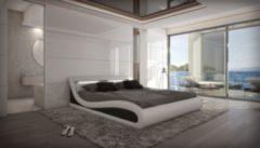 Sofa Dreams Berlin Wasserbett CASERTA LED Komplett Set weiß