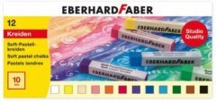 Pastelkrijt Eberhard Faber vierkant assorti etui à 12 st.