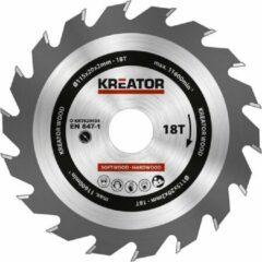 Kreator KRT020434 Zaagblad hout - Ø115 mm - 18 T