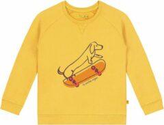 Gele Smitten Organic - Skateboard Katoen Fleece Trui - Bamboo Yellow