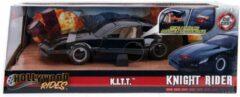 Zwarte Jada Toys 1982 Pontiac Firebird - Knight Rider - K.I.T.T. - Jada 1:24 met werkende LED scanner