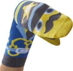Donkerblauwe WALKYTALKIES - Kindersokken - Sokpop - Politieagent - Maat 31-34- 7-8 jaar