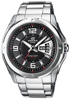 Afbeelding van Casio Quartz Horloge EF-129D-1AVEF (l x b x h) 49 x 44.8 x 10.4 mm Zilver Materiaal (behuizing): RVS Materiaal (armband): RVS