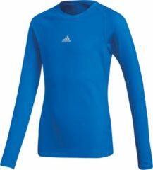 Blauwe Adidas Alphaskin Shirt Lange Mouw Kinderen - Royal | Maat: 116