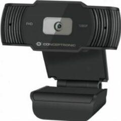 Conceptronic AMDIS 1080P Full HD with Microphone webcam 1920 x 1080 Pixels USB 2.0 Zwart