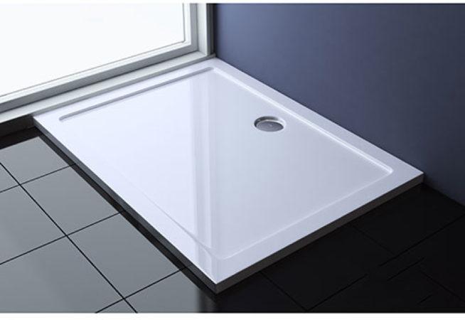 Afbeelding van Best-design wastafel slim 60 cm (ondiep) 35 cm met-kraangat glans-wit