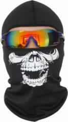Witte Merkloos / Sans marque Bivakmuts Ski Muts Skull - Muts met schedel print - Skull Balaclava - Model D