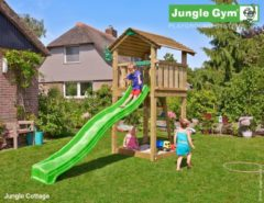 Blauwe Jungle Gym speelhuis Cottage DeLuxe Blauw