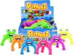 Roze Steffi Puffer monster driepoot - Baby Peuter Kinderen speeltje - Slijm beestje uitrekbaar
