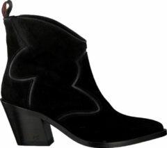 Zwarte SCOTCH & SODA Abbey mid zip boot black