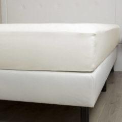 Gebroken-witte Heckettlane Heckett & Lane - Percale katoen - Hoeslaken - Tweepersoons - 140x200 cm - Off white