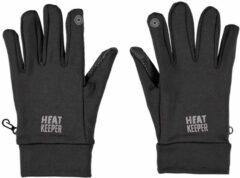 HEAT KEEPER Zwarte thermo touchscreen handschoenen voor heren - Warme handschoenen voor volwassenen XXL