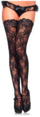 Leg Avenue Hold-up Kousen Kantprint (zwart, one size)