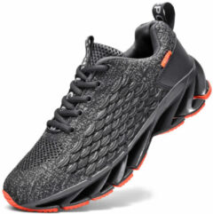 Newchic Men Knitted Fabric Breathable Sports Casual Running Sneakers