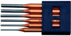 Gedore drevel, PVC, 6 drevels, penmaat 3-8mm, met houder/doos