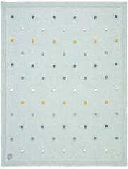 Lässig gebreide deken GOTS Dots light mint 80 x 110 cm