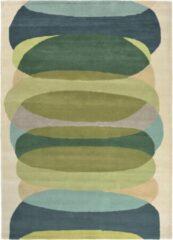 Harlequin - Elliptic Emerald 140307 Vloerkleed - 200x280 cm - Rechthoekig - Laagpolig Tapijt - Retro - Beige, Blauw, Groen