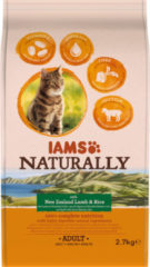 Iams Naturally Kat Adult New Sealand Lam&Rijst 2,7 kg