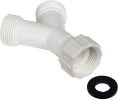 WPRO Y-Stück - 2 Zulaufschlange auf 1 Wasserzufuhr (Ø20-27mm) 482236057132, ALY009