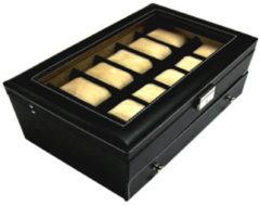 Benson Leder Horlogebox A5 Zwart
