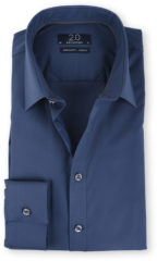 Donkerblauwe Overhemd Profuomo donkerblauw super slim fit 40