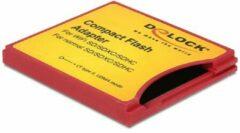 DeLOCK 62542 CF type II SD Rood, Geel kabeladapter/verloopstukje