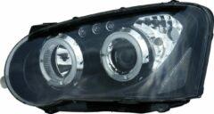 Universeel Set Koplampen Subaru Impreza 2003-2005 - Zwart - incl. Angel-Eyes