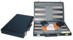 HOT Games Backgammonkoffer 38 cm. Zwart effen