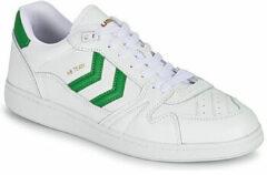 Hummel HB Team Suede sneakers wit/groen