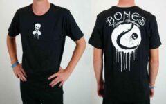 Zwarte Bones Sportswear Heren tennis T-shirt cotton Drip maat S