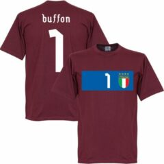 Bruine Retake Italië Buffon Banner T-shirt - M