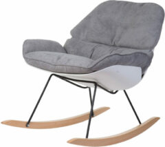 Childhome Lounge schommelstoel - wit/grijs