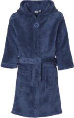 Playshoes - Fleece badjas met capuchon - Donkerblauw - maat 86-92cm