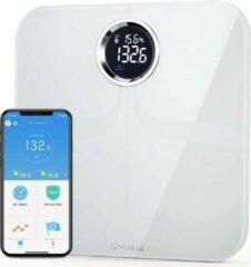Witte Yunmai Premium Slimme weegschaal met Bluetooth en 10 lichaamsmetingen - Werkt met Apple Health & Google Fit - Smart Fitness Scale