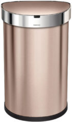 Roze Simplehuman Pedaalemmer Semi Round met Liner Pocket Rvs Sensor 45 liter