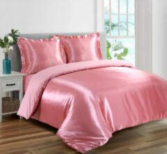 Beauty Silk - Dekbedovertrek Satijn - Flamingo Roze - 240x200/220