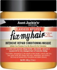 Aunt Jackies Aunt Jackie's Curls & Coils Flaxseed Recipes Fix My Hair Intensive Repair Conditioning Masque 426 gr
