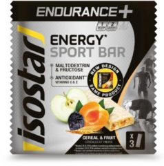 Isostar Energiereep Energy Sport Bar Endurance+ granen en fruit 3x40 g
