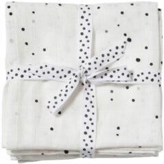 Witte Done by Deer hydrofiele monddoekjes 70x70 Dreamy dots (set van 2) White