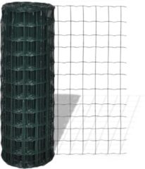 Groene VidaXL Euro gaas 25 x 1.5 m / maaswijdte 76 x 63 mm