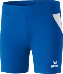 Blauwe Erima Atletiek Short Tight Dames - Royal / Wit | Maat: 34