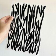 Zwarte Studio Jong Tijgerprint/zebraprint muurstickers