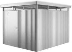 Zilveren Biohort Highline H5 zilver metallic 1 deurs - 275 x 315 x 222 cm