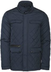 Marineblauwe Harvest Huntingview Quilted Jas Heren 2111030 Navy - Maat XL