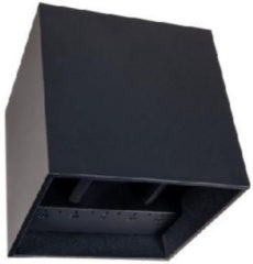 Kubus Wandlamp LED zwart dimbaar 220lm 2700 IP65 - Modern - Lampidee - 2 jaar garantie