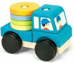 Le Toy Van Stapelset Voertuigen Blauw - Hout