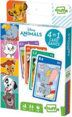 Shuffle Kaartspel 4-in-1 Disney Animals 56 X 87 Mm Karton